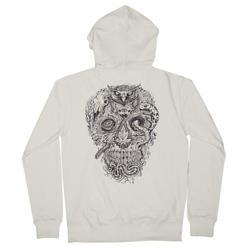 Calvariam naturalis Women's Zip-Up Hoody by oktopussapiens's Artist Shop