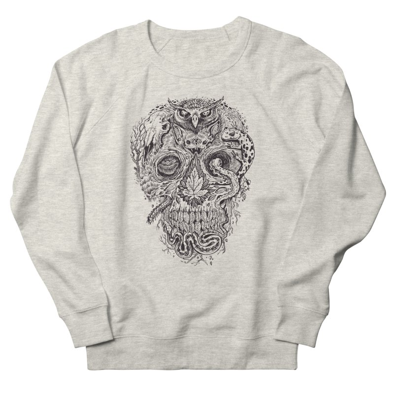 Calvariam naturalis Men's French Terry Sweatshirt by oktopussapiens's Artist Shop