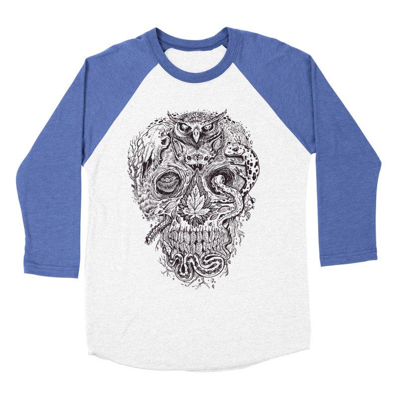 Calvariam naturalis Women's Baseball Triblend Longsleeve T-Shirt by oktopussapiens's Artist Shop