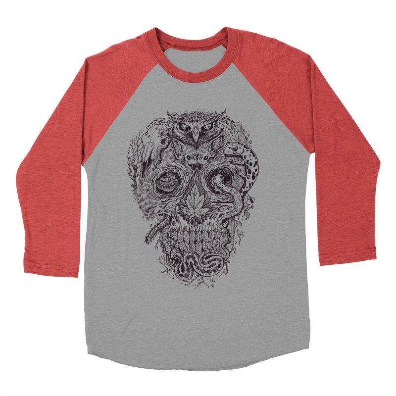 Calvariam naturalis Women's Baseball Triblend T-Shirt by oktopussapiens's Artist Shop