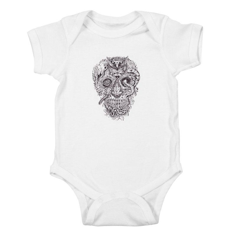 Calvariam naturalis Kids Baby Bodysuit by oktopussapiens's Artist Shop