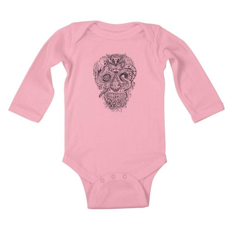 Calvariam naturalis Kids Baby Longsleeve Bodysuit by oktopussapiens's Artist Shop