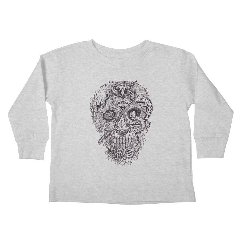 Calvariam naturalis Kids Toddler Longsleeve T-Shirt by oktopussapiens's Artist Shop