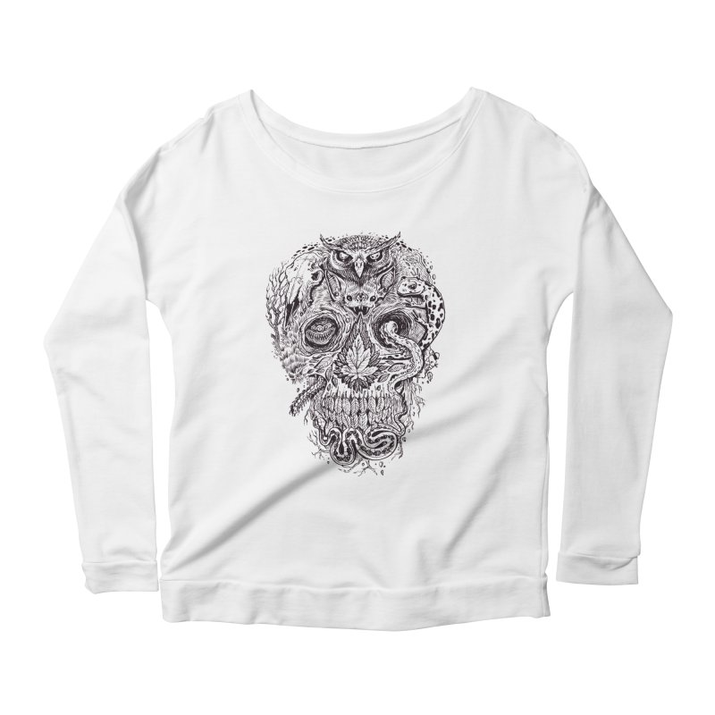 Calvariam naturalis Women's Scoop Neck Longsleeve T-Shirt by oktopussapiens's Artist Shop