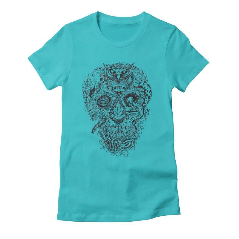 Calvariam naturalis Women's Fitted T-Shirt by oktopussapiens's Artist Shop