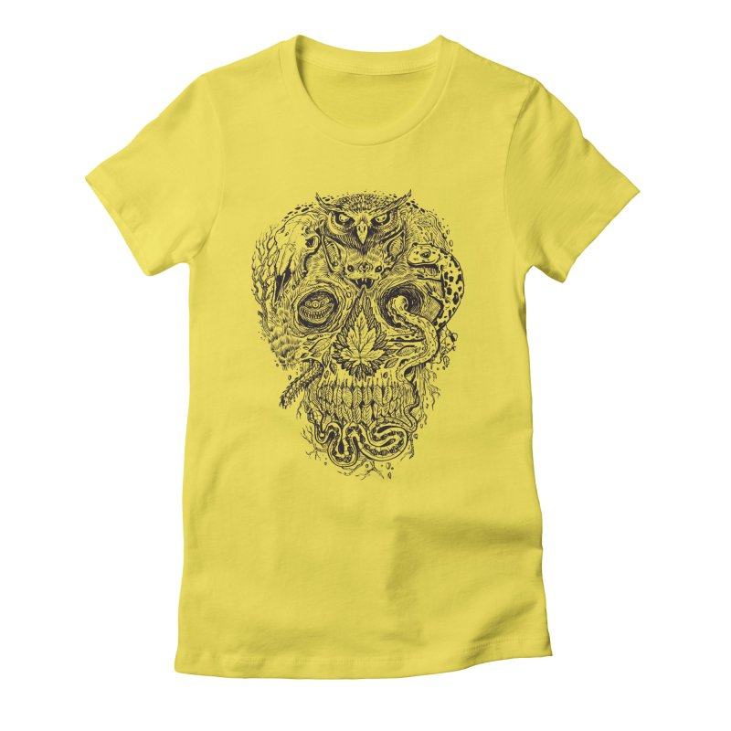 Calvariam naturalis Women's Fitted T-Shirt by oktopussapiens's Artist Shop
