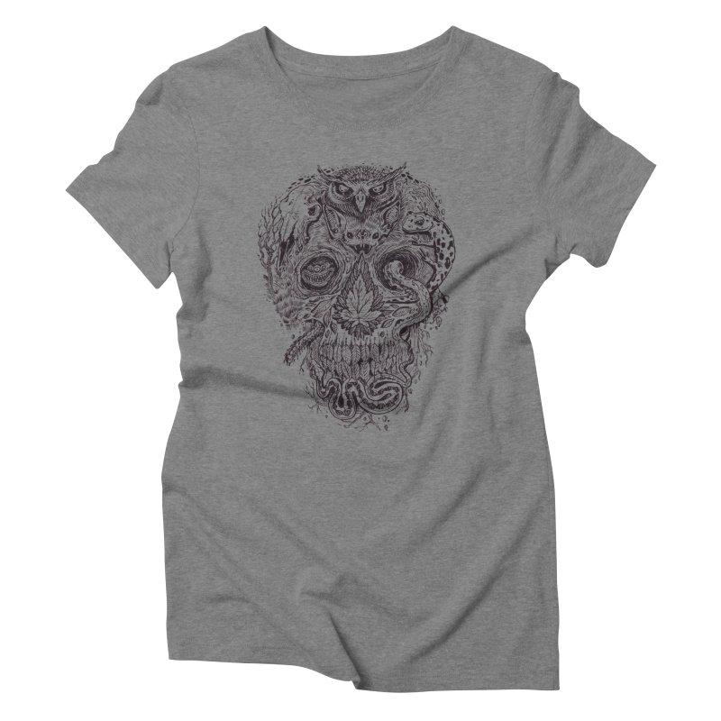 Calvariam naturalis Women's Triblend T-shirt by oktopussapiens's Artist Shop