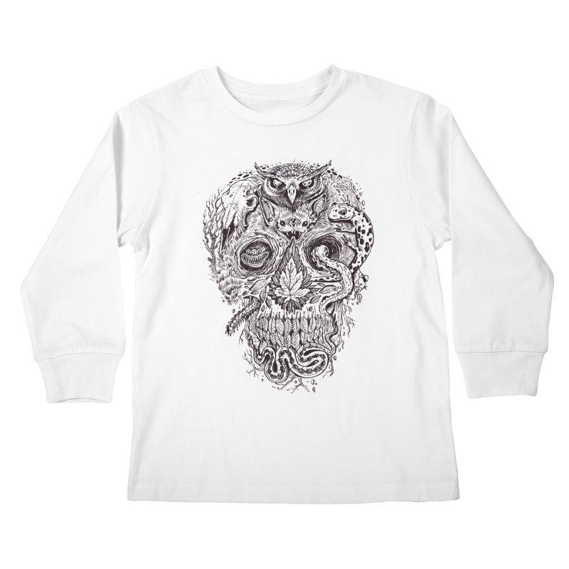 Calvariam naturalis Kids Longsleeve T-Shirt by oktopussapiens's Artist Shop