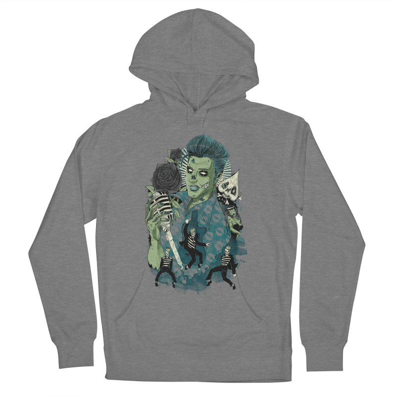 The king is back Women's French Terry Pullover Hoody by oktopussapiens's Artist Shop
