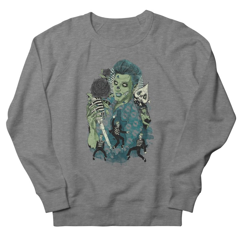 The king is back Women's French Terry Sweatshirt by oktopussapiens's Artist Shop