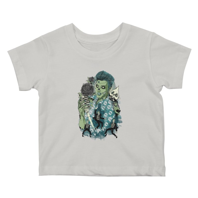 The king is back Kids Baby T-Shirt by oktopussapiens's Artist Shop