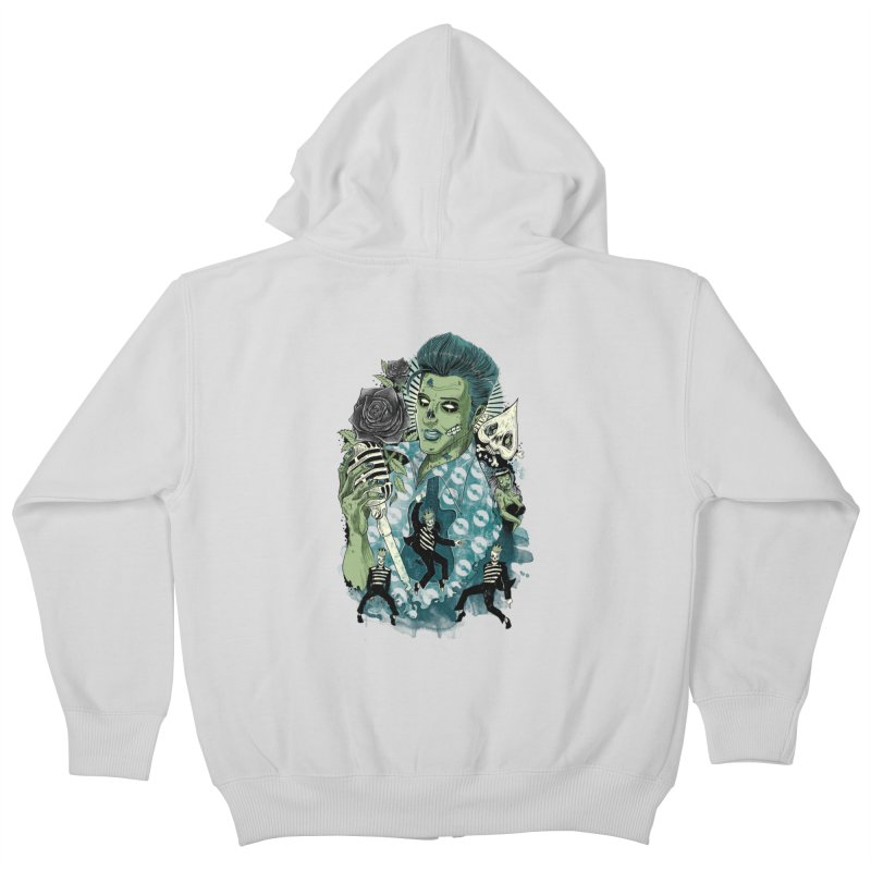 The king is back Kids Zip-Up Hoody by oktopussapiens's Artist Shop