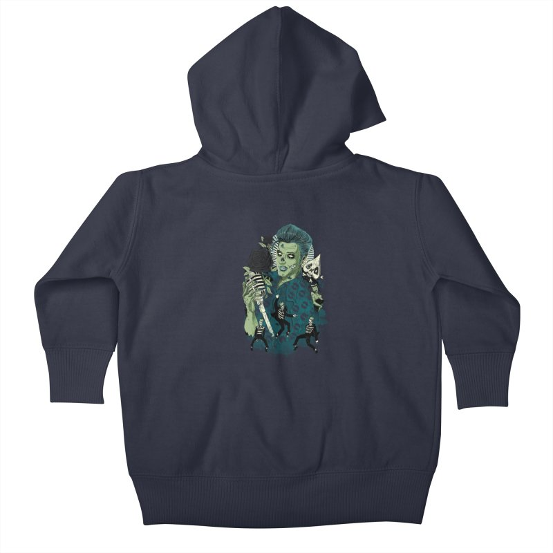 The king is back Kids Baby Zip-Up Hoody by oktopussapiens's Artist Shop