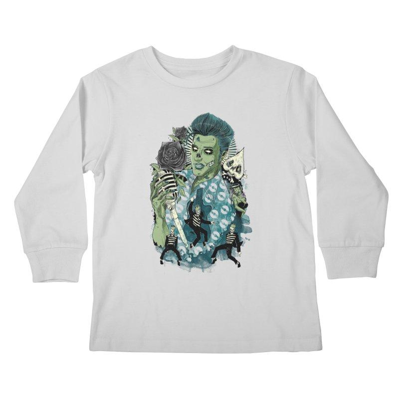 The king is back Kids Longsleeve T-Shirt by oktopussapiens's Artist Shop