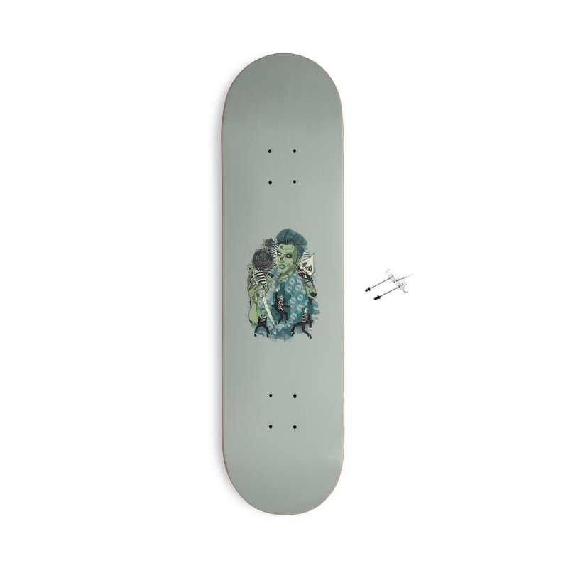 The king is back Accessories With Hanging Hardware Skateboard by oktopussapiens's Artist Shop