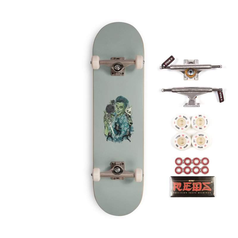 The king is back Accessories Complete - Pro Skateboard by oktopussapiens's Artist Shop
