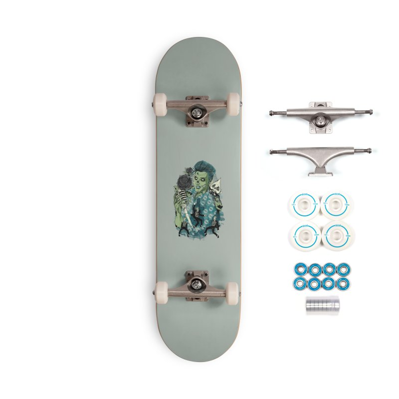 The king is back Accessories Complete - Basic Skateboard by oktopussapiens's Artist Shop