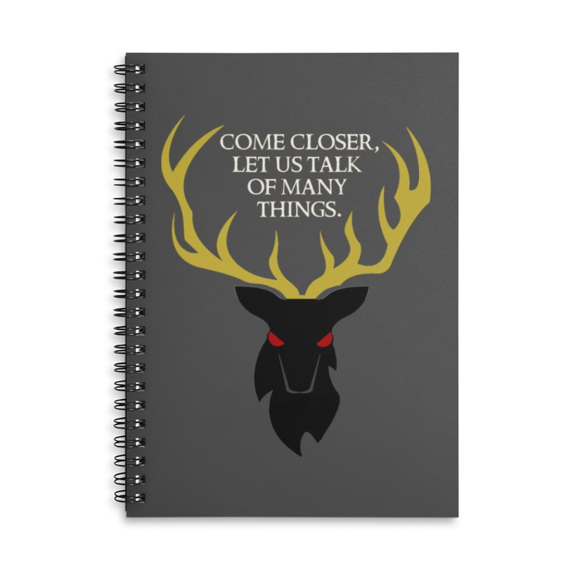 Old Gods of Appalachia: The Black Stag Accessories Lined Spiral Notebook by OLD GODS OF APPALACHIA