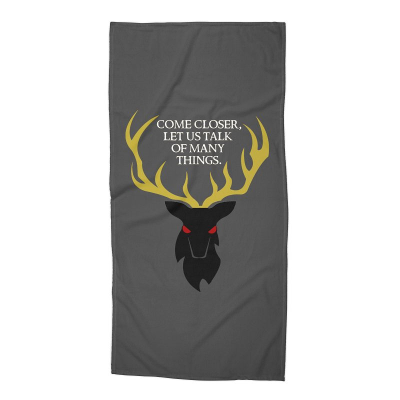 Old Gods of Appalachia: The Black Stag Accessories Beach Towel by OLD GODS OF APPALACHIA