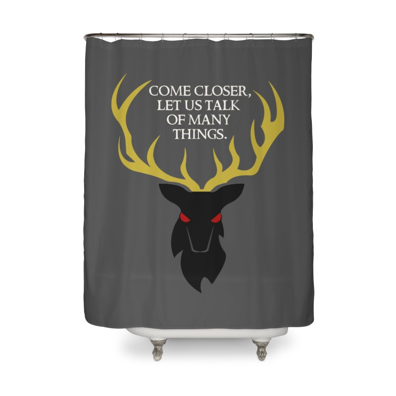 Old Gods of Appalachia: The Black Stag Home Shower Curtain by OLD GODS OF APPALACHIA