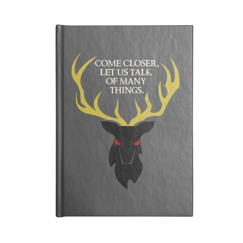 Old Gods of Appalachia: The Black Stag Accessories Lined Journal Notebook by OLD GODS OF APPALACHIA