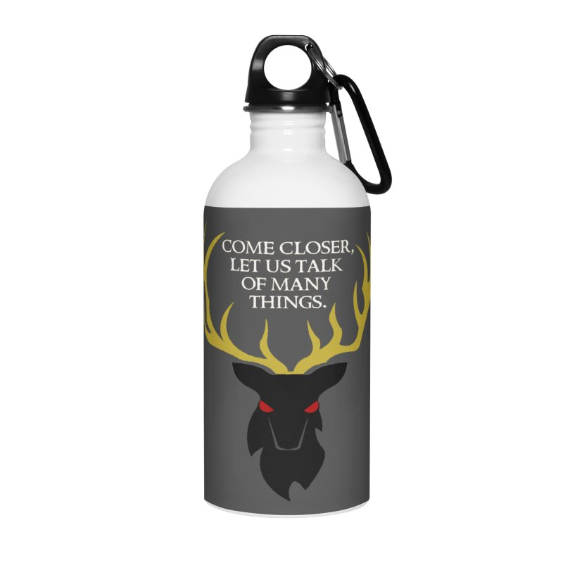 Old Gods of Appalachia: The Black Stag Accessories Water Bottle by OLD GODS OF APPALACHIA