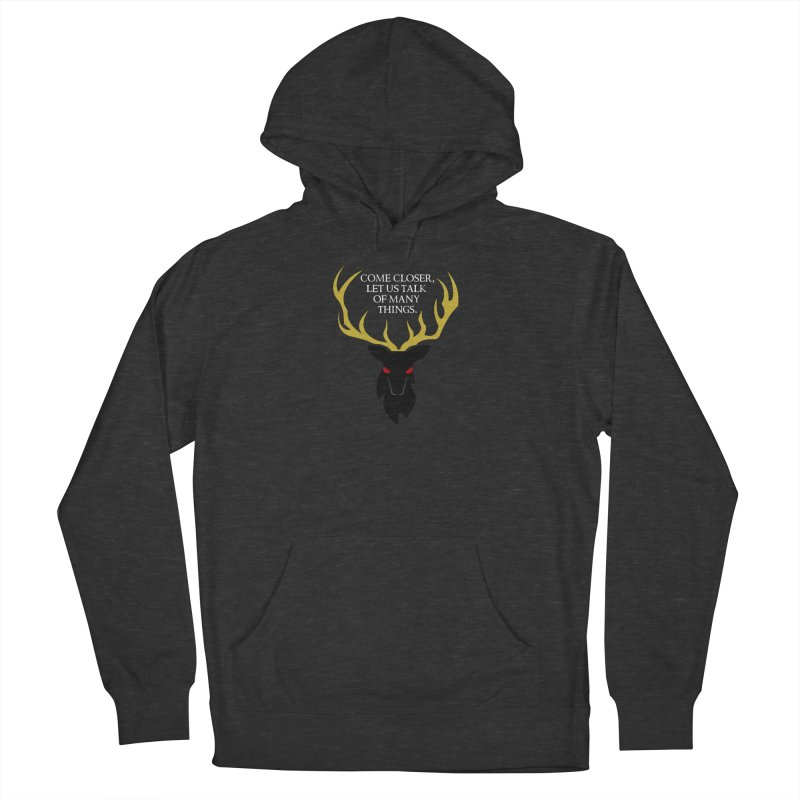 Old Gods of Appalachia: The Black Stag Men's French Terry Pullover Hoody by OLD GODS OF APPALACHIA