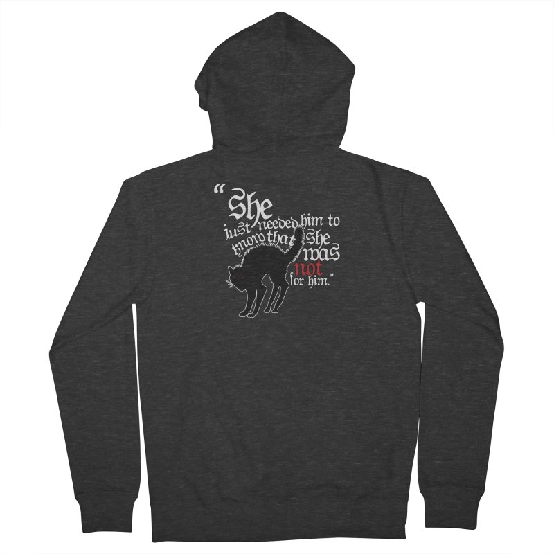Old Gods of Appalachia: Not For Him Women's French Terry Zip-Up Hoody by OLD GODS OF APPALACHIA