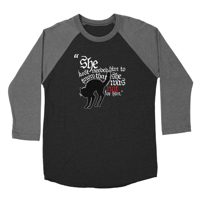 Old Gods of Appalachia: Not For Him Women's Baseball Triblend Longsleeve T-Shirt by OLD GODS OF APPALACHIA