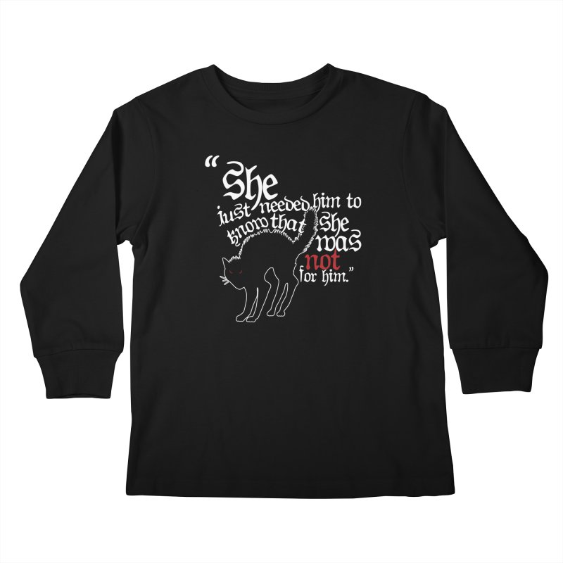 Old Gods of Appalachia: Not For Him Kids Longsleeve T-Shirt by OLD GODS OF APPALACHIA