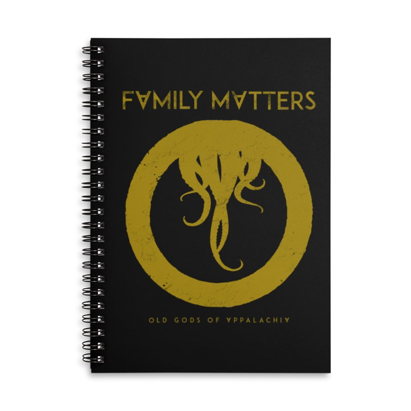 Old Gods of Applachia: Family Matters Accessories Lined Spiral Notebook by OLD GODS OF APPALACHIA