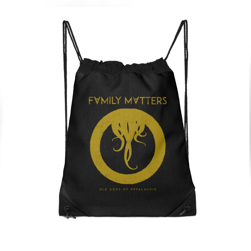 Old Gods of Applachia: Family Matters Accessories Drawstring Bag Bag by OLD GODS OF APPALACHIA