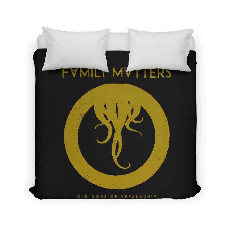 Old Gods of Applachia: Family Matters Home Duvet by OLD GODS OF APPALACHIA