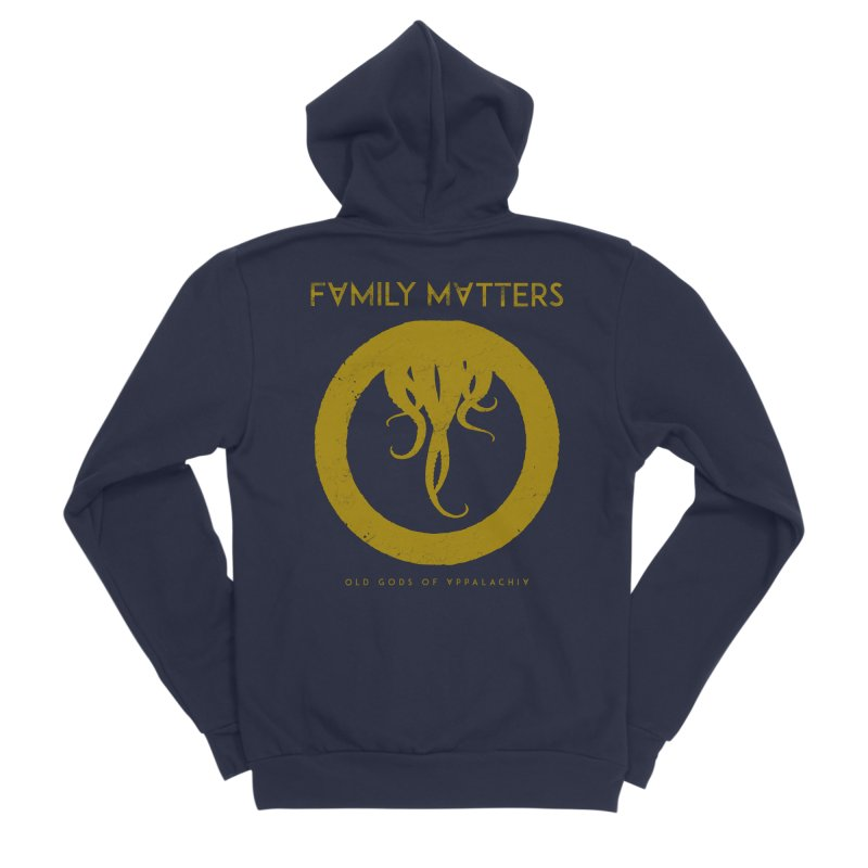 Old Gods of Applachia: Family Matters Women's Sponge Fleece Zip-Up Hoody by OLD GODS OF APPALACHIA