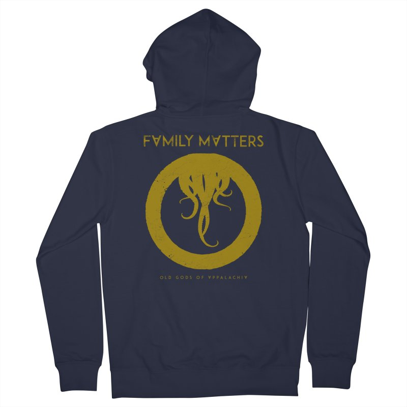 Old Gods of Applachia: Family Matters Men's French Terry Zip-Up Hoody by OLD GODS OF APPALACHIA
