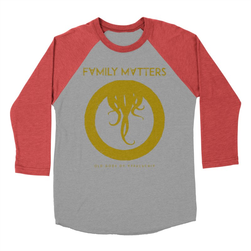 Old Gods of Applachia: Family Matters Men's Baseball Triblend Longsleeve T-Shirt by OLD GODS OF APPALACHIA