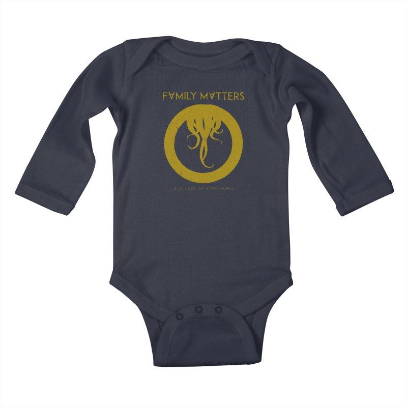 Old Gods of Applachia: Family Matters Kids Baby Longsleeve Bodysuit by OLD GODS OF APPALACHIA