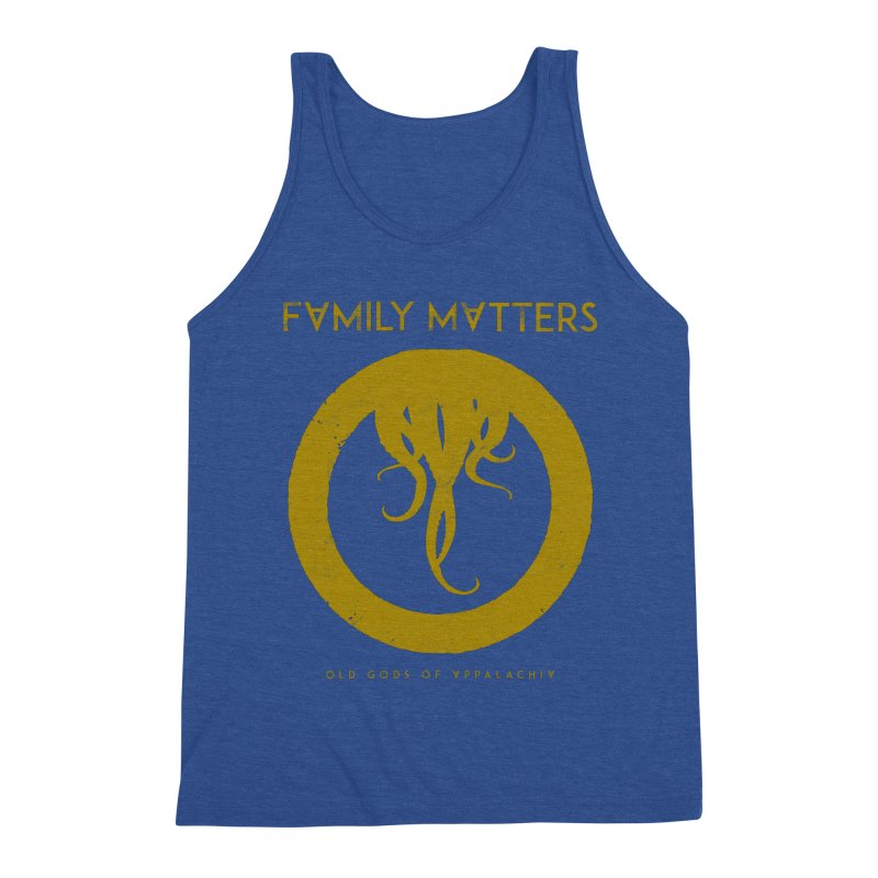 Old Gods of Applachia: Family Matters Men's Triblend Tank by OLD GODS OF APPALACHIA