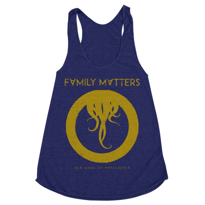 Old Gods of Applachia: Family Matters Women's Racerback Triblend Tank by OLD GODS OF APPALACHIA