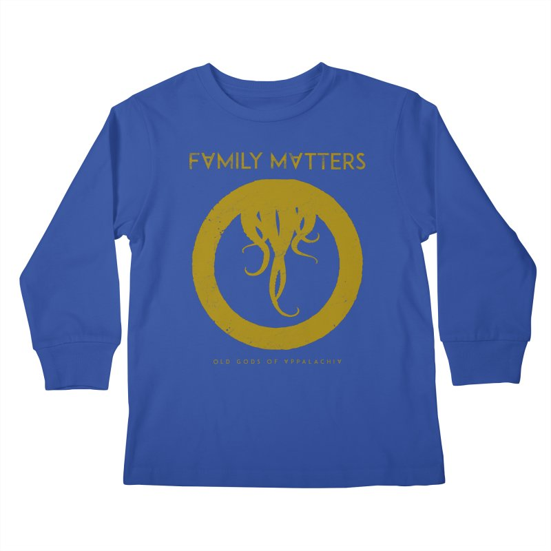 Old Gods of Applachia: Family Matters Kids Longsleeve T-Shirt by OLD GODS OF APPALACHIA