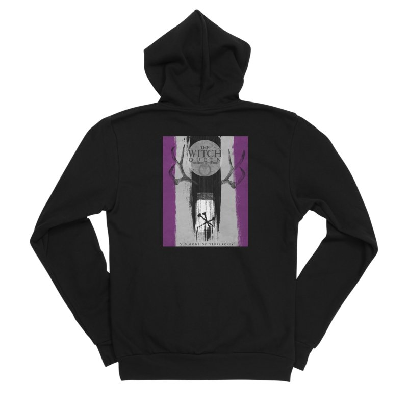 Old Gods of Appalachia: The Witch Queen: Solitude/ACE PRIDE Shirt Men's Sponge Fleece Zip-Up Hoody by OLD GODS OF APPALACHIA