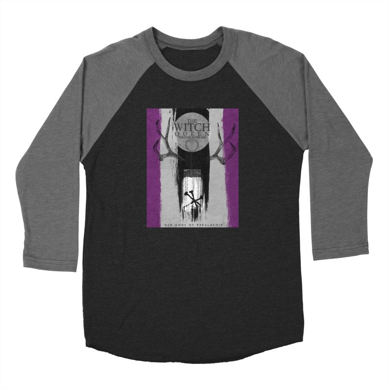 Old Gods of Appalachia: The Witch Queen: Solitude/ACE PRIDE Shirt Men's Baseball Triblend Longsleeve T-Shirt by OLD GODS OF APPALACHIA