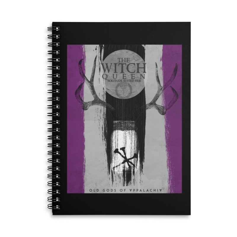 Old Gods of Appalachia: The Witch Queen: Solitude/ACE PRIDE Shirt Accessories Lined Spiral Notebook by OLD GODS OF APPALACHIA