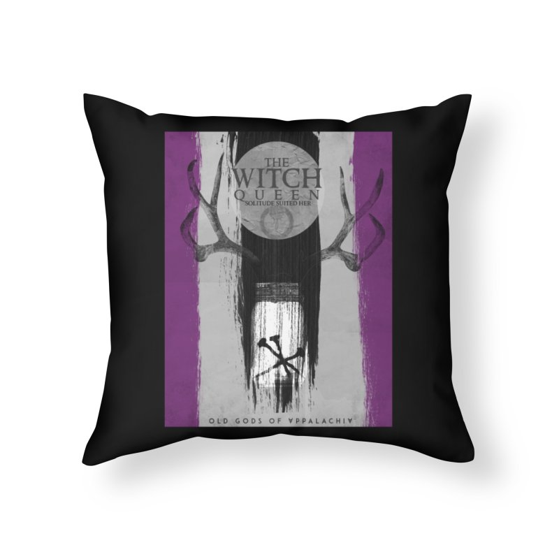 Old Gods of Appalachia: The Witch Queen: Solitude/ACE PRIDE Shirt Home Throw Pillow by OLD GODS OF APPALACHIA