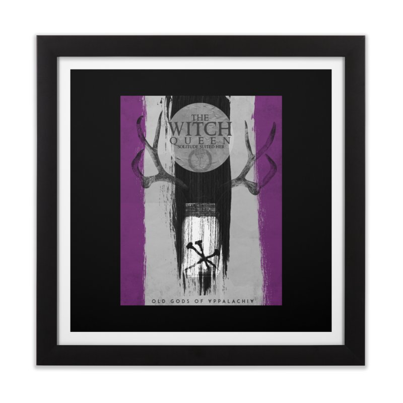 Old Gods of Appalachia: The Witch Queen: Solitude/ACE PRIDE Shirt Home Framed Fine Art Print by OLD GODS OF APPALACHIA