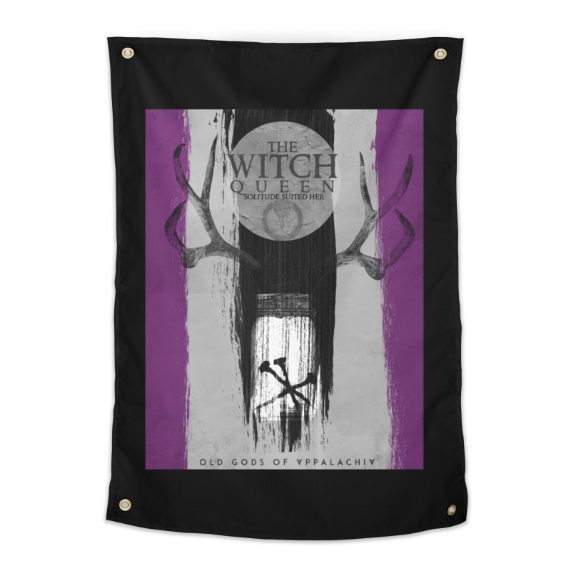 Old Gods of Appalachia: The Witch Queen: Solitude/ACE PRIDE Shirt Home Tapestry by OLD GODS OF APPALACHIA