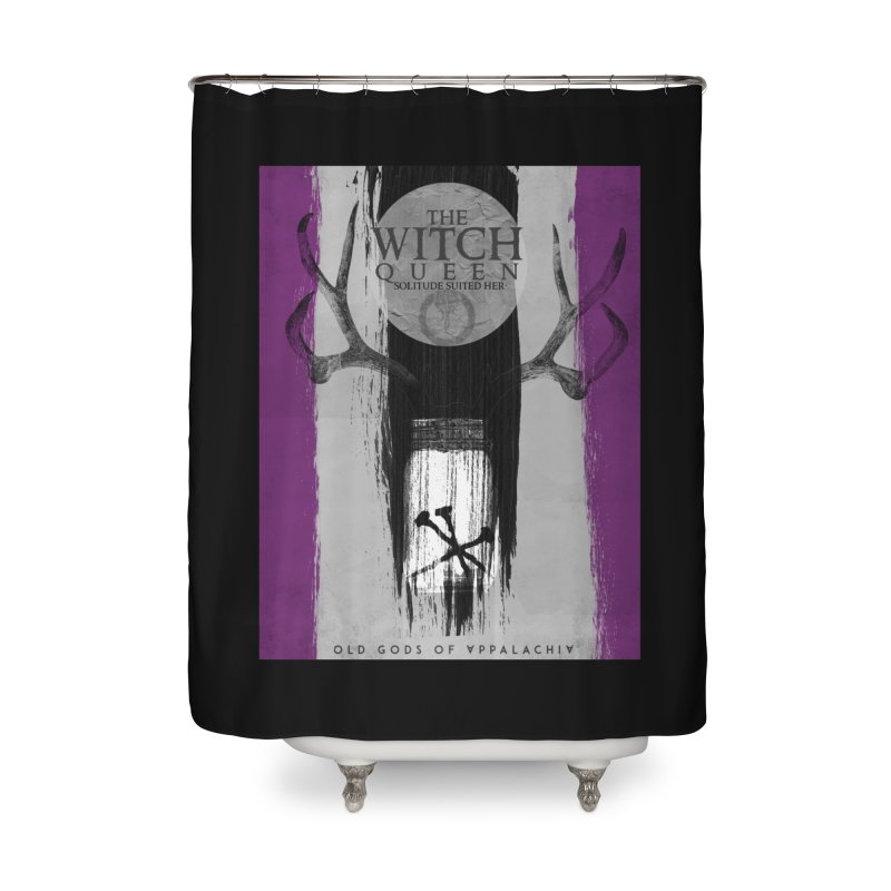 Old Gods of Appalachia: The Witch Queen: Solitude/ACE PRIDE Shirt Home Shower Curtain by OLD GODS OF APPALACHIA