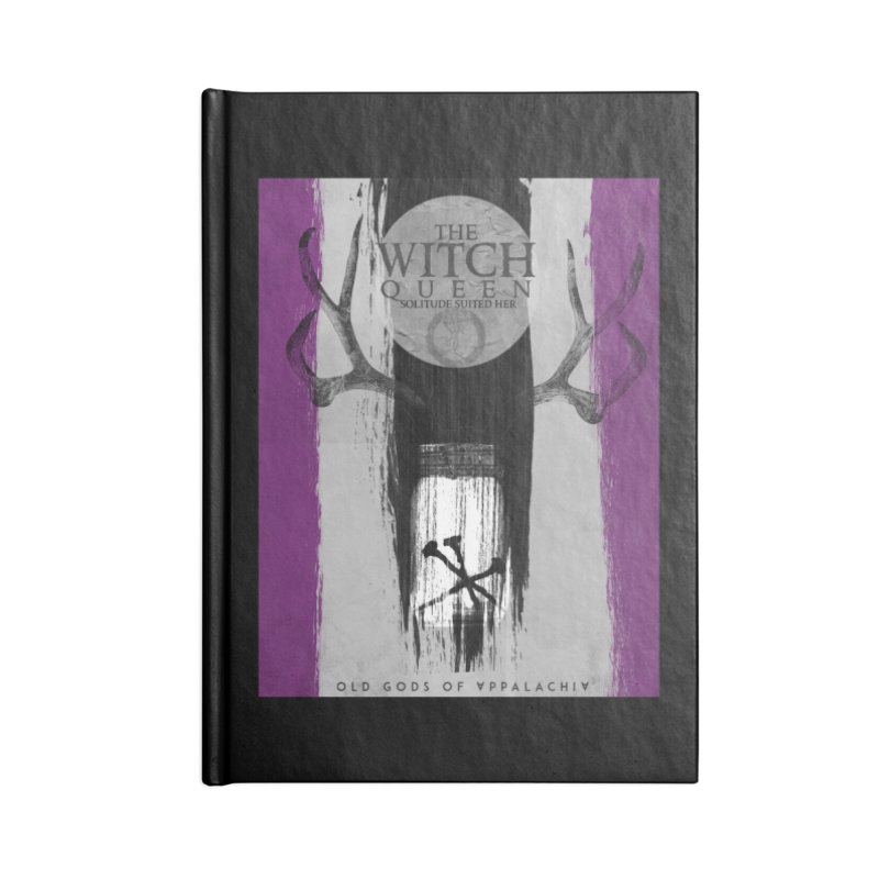 Old Gods of Appalachia: The Witch Queen: Solitude/ACE PRIDE Shirt Accessories Lined Journal Notebook by OLD GODS OF APPALACHIA