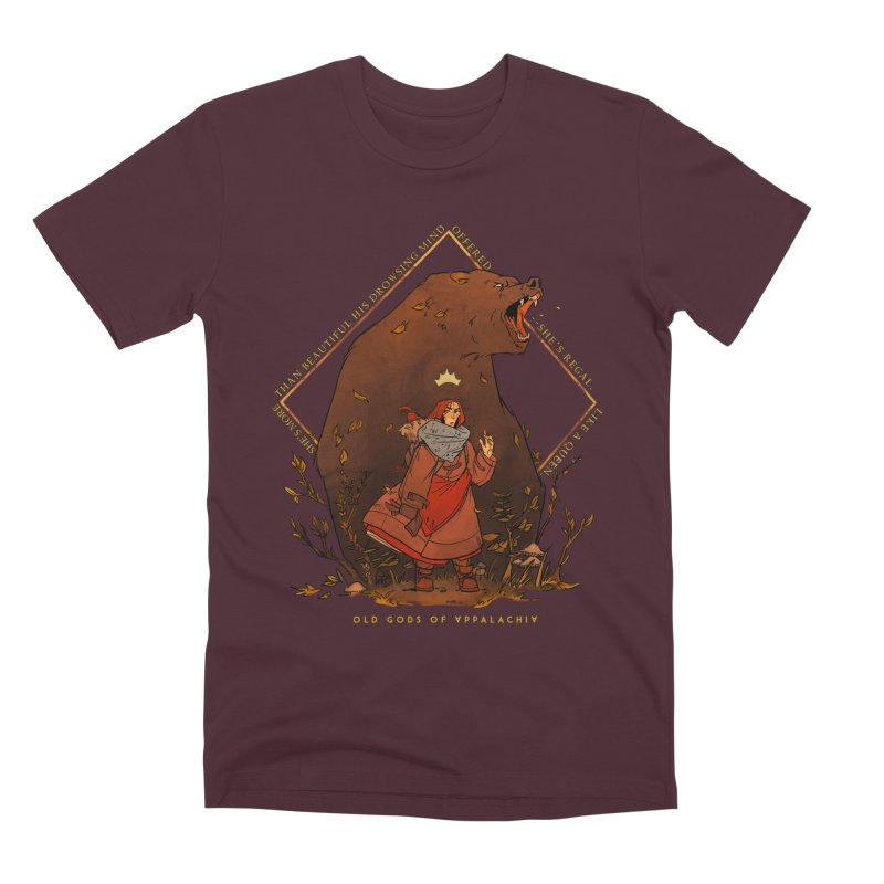 Old Gods of Appalachia: The Witch Queen and Bartholomew Men's Premium T-Shirt by OLD GODS OF APPALACHIA