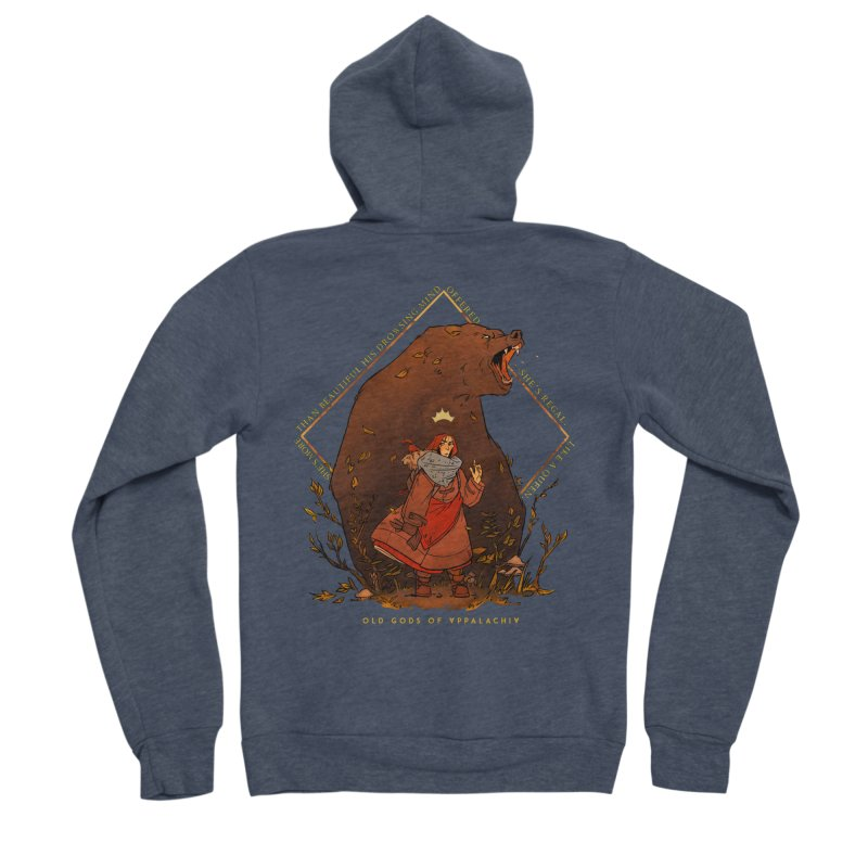 Old Gods of Appalachia: The Witch Queen and Bartholomew Men's Sponge Fleece Zip-Up Hoody by OLD GODS OF APPALACHIA